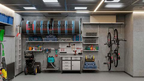 VR проект №4: гараж 59 кв м  (8,5 х 7 м) + видео