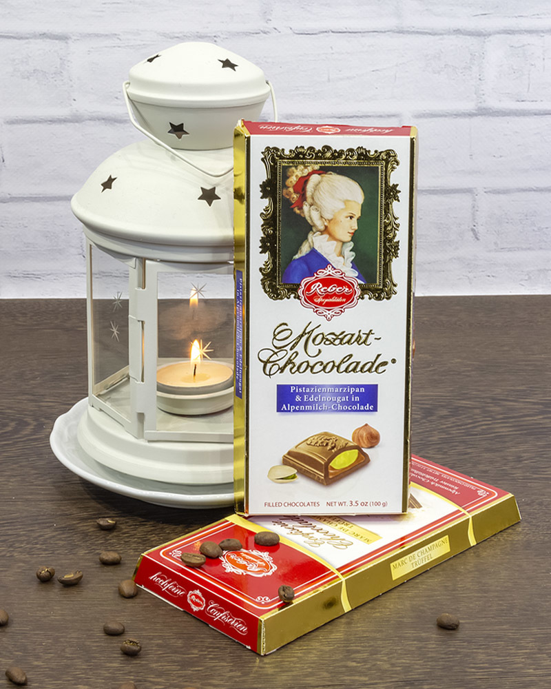 Молочный Шоколад Reber с Ореховым Пралине и Фисташковым Марципаном 100 г