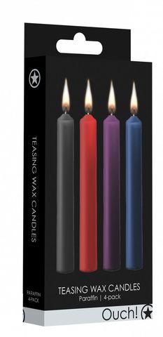 Набор из 4 разноцветных восковых свечей Teasing Wax Candle