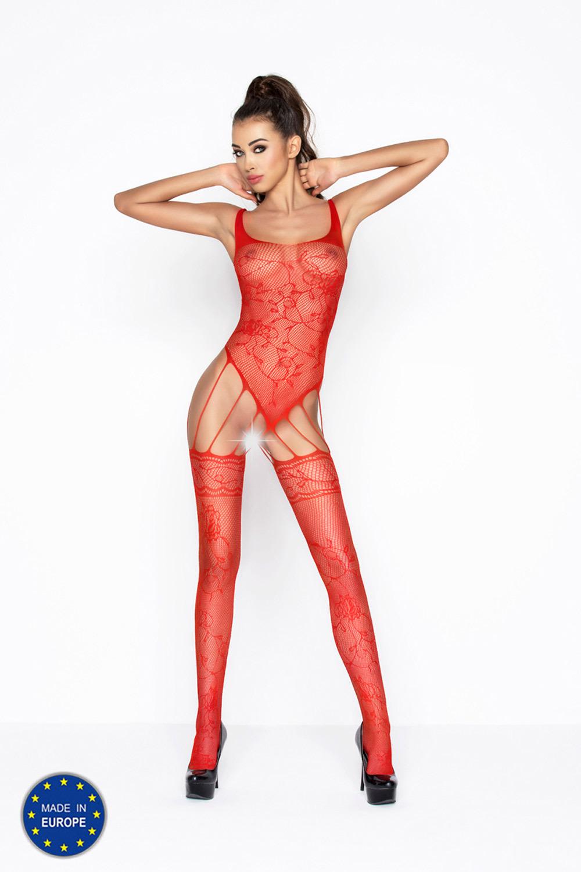 Красный бодистокинг сетка эротический