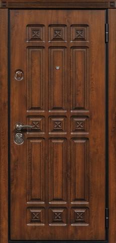 Дверь входная Стальная линия Элит стальная, дуб антик, 2 замка