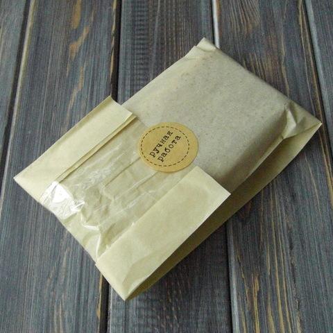 Пакет бумажный с плоским дном, с окошком (10х31см)