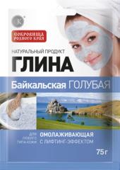 Глина Байкальская голубая, омолаживающая 75 г. ТМ Фитокосметик