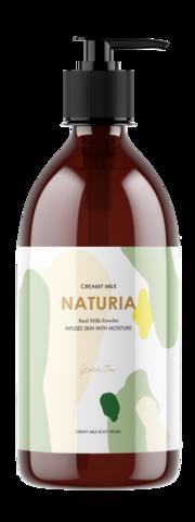 EVAS NATURIA Creamy Milk Body Wash - Green tea Гель для душа,750мл