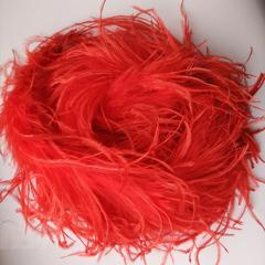 Боа  из перьев страуса и пуха 30 гр. красный
