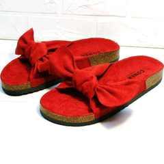 Красные босоножки биркенштоки Comer SAR-15 Red.