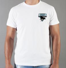 Футболка с принтом НХЛ Сан-Хосе Шаркс (NHL San Jose Sharks) белая 0016