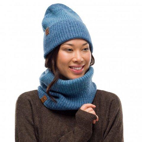 Вязаная шапка Buff Hat Knitted  Marin Denim фото 2