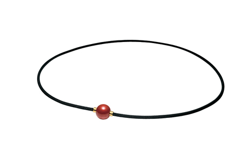 Ожерелье PHITEN RAKUWA NECKLACE METAX MIRROR BALL (красное)