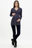 Блузка для беременных и кормящих 09844 синий