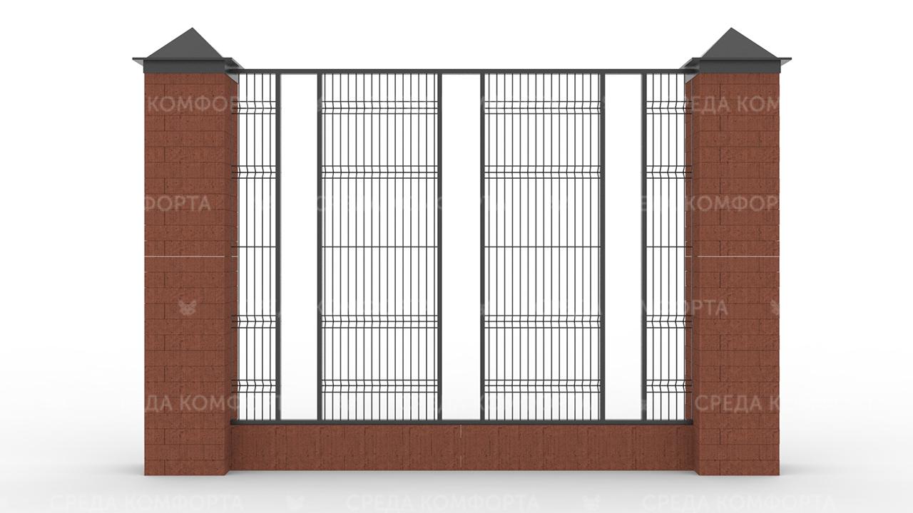 Забор 3Д ZBR0074