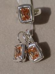 Рафинад  (кольцо + серьги из серебра)