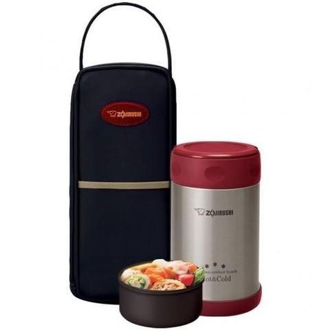 Термос для еды Zojirushi SW-EXE (0,5 литра), красный с чехлом