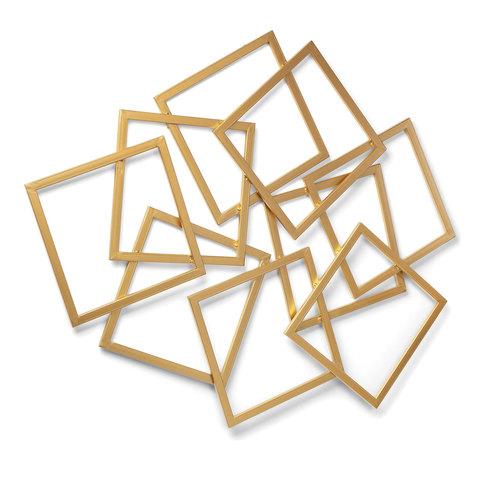 Настенная панель Menta 113x94 золотистая