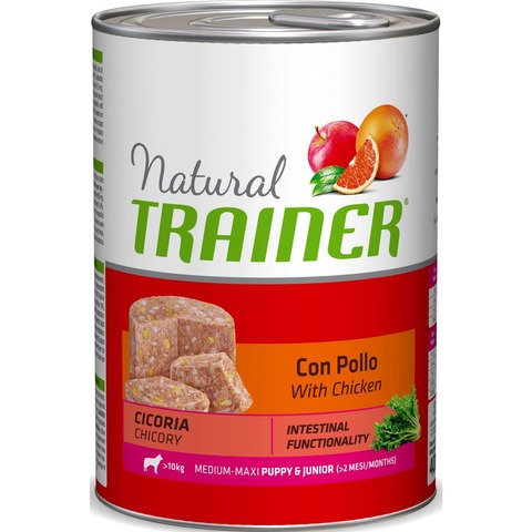 Trainer Natural Dog Medium&Maxi Puppy & Junior - With Chicken, 4800 г.