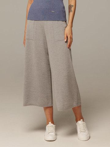 Женские серые брюки из 100% шерсти - фото 4
