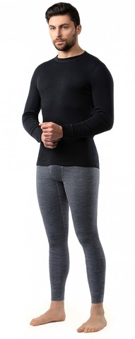 Картинка кофта Norveg Soft Sleeve M woolmark черный - 3