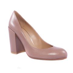 Кожаные туфли Stuart Weitzman 41243 на устойчивом каблуке