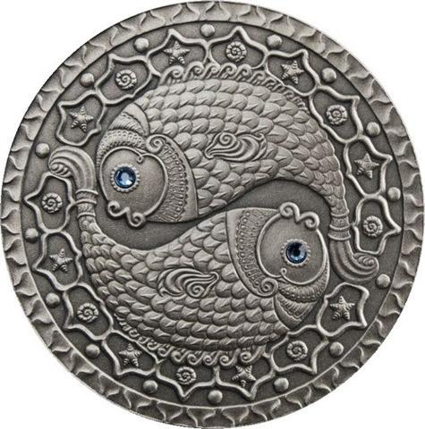 20 рублей 2009 год. Знаки зодиака. Рыбы. Белоруссия.