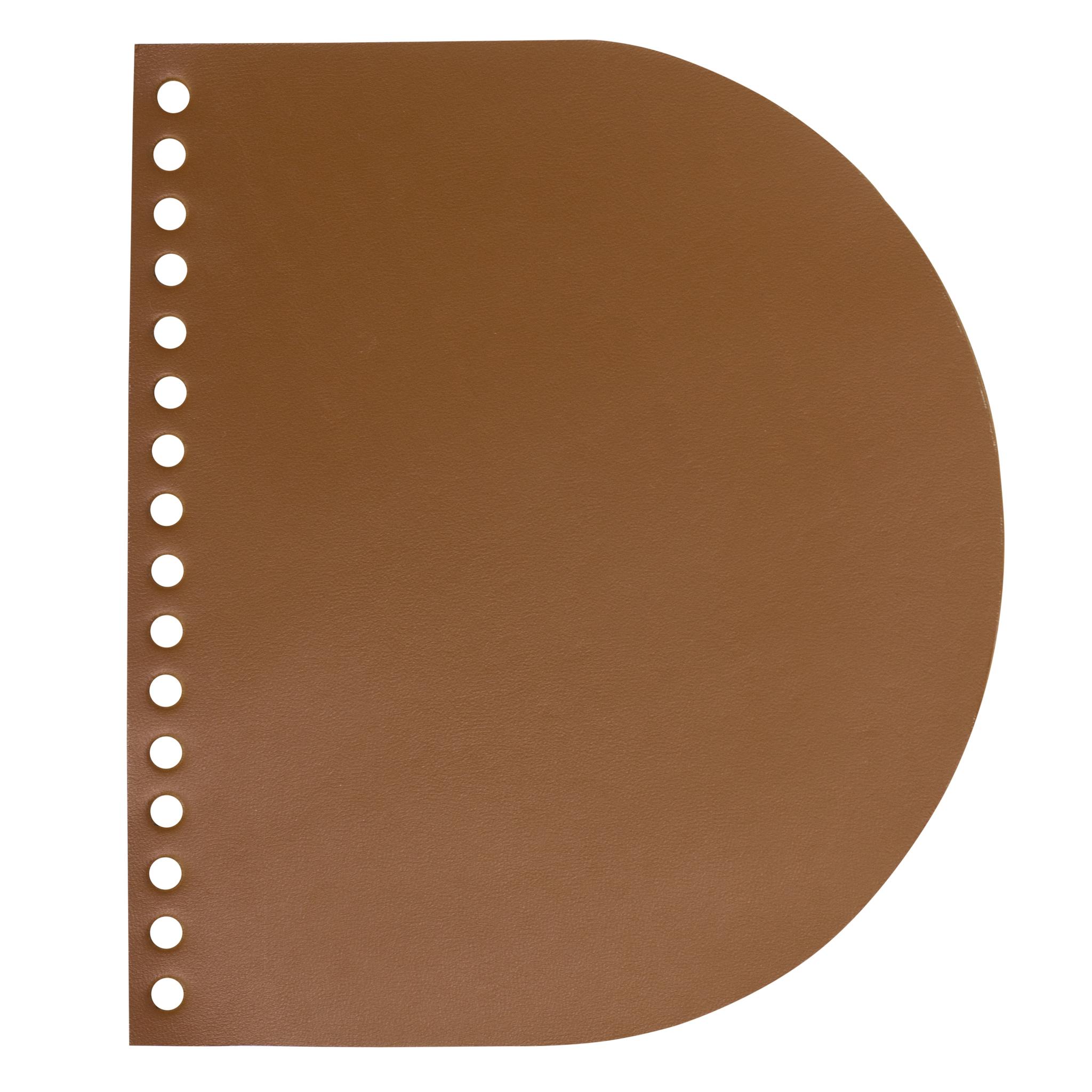 """Кожаная фурнитура Клапан для сумочки кожаный """"Какао"""" IMG_9746.jpg"""