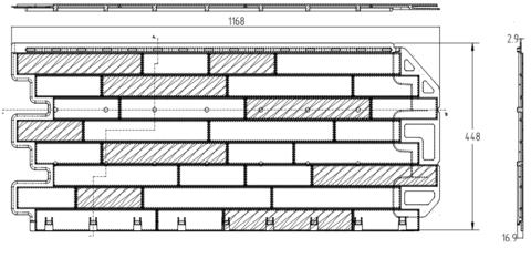 Фасадная панель Альта Профиль Кирпич антик Каир 1160х450 мм
