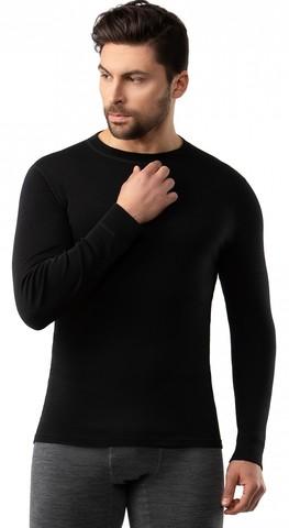 Картинка кофта Norveg Soft Sleeve M woolmark черный - 1