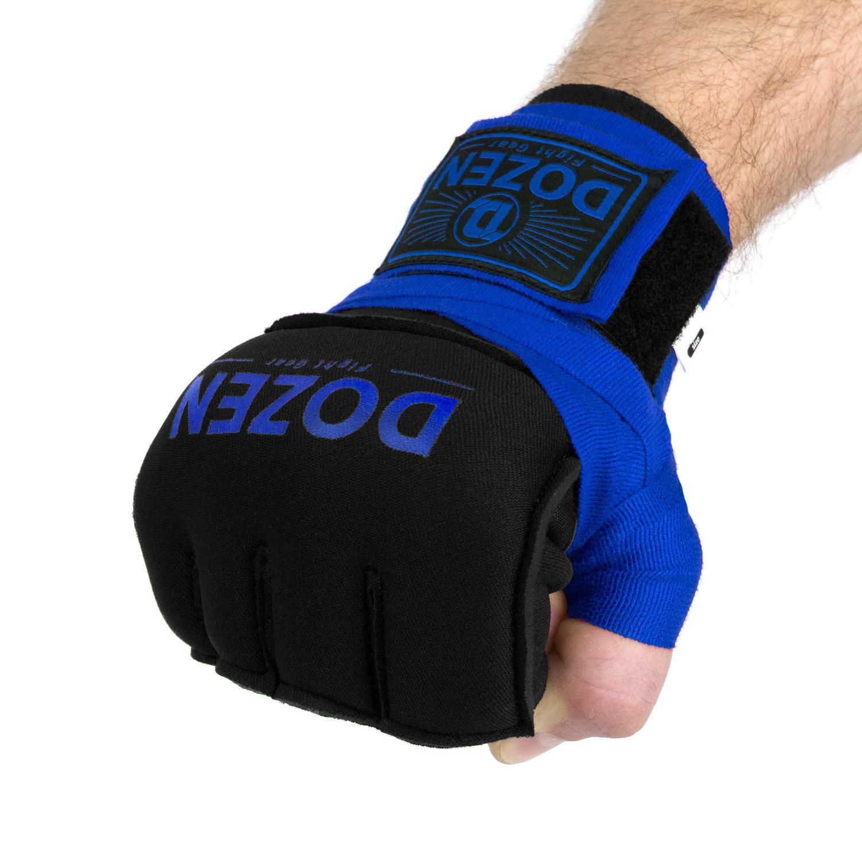 Быстрые бинты синие Dozen Prime Gel на кулаке