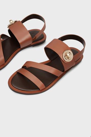 Женские коричневые кожаные сандалии Rosabella PRPY