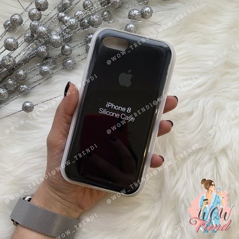 Чехол iPhone 7/8 Silicone Case /black/ черный 1:1