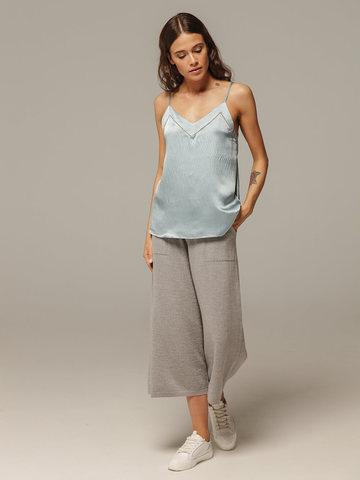 Женские серые брюки из 100% шерсти - фото 5