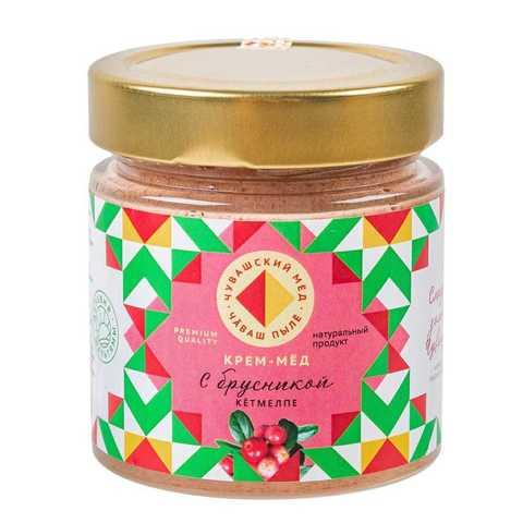 крем мед брусничный