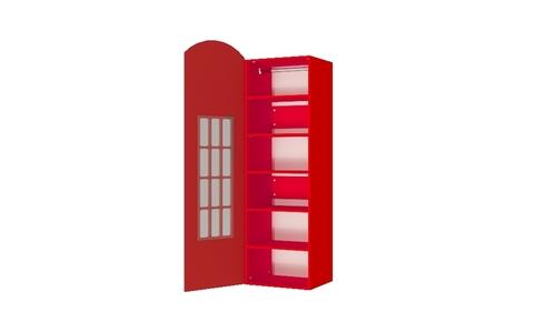 Шкаф красная телефонная будка Лондон