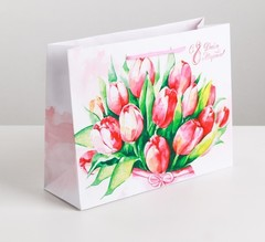 Пакет ламинированный горизонтальный «Цветочная нежность», S 12 × 15 × 5.5 см