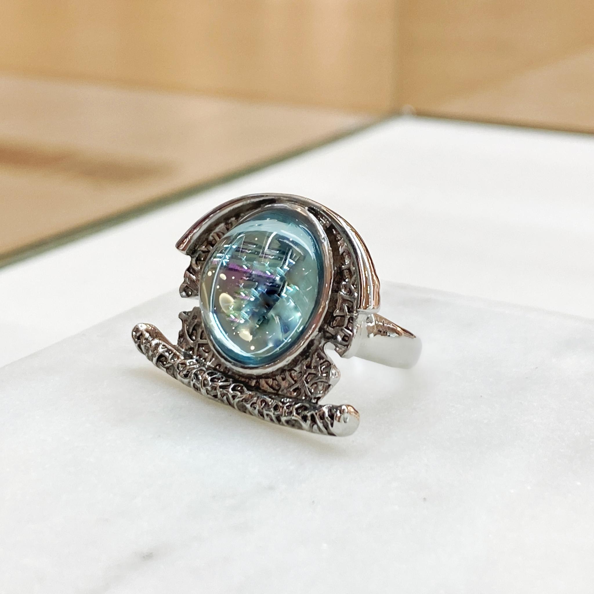 Кольцо Vi антик голубой