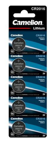 Батарея Camelion Lithium CR2016 BL-5 CR2016 75mAh (5шт) блистер