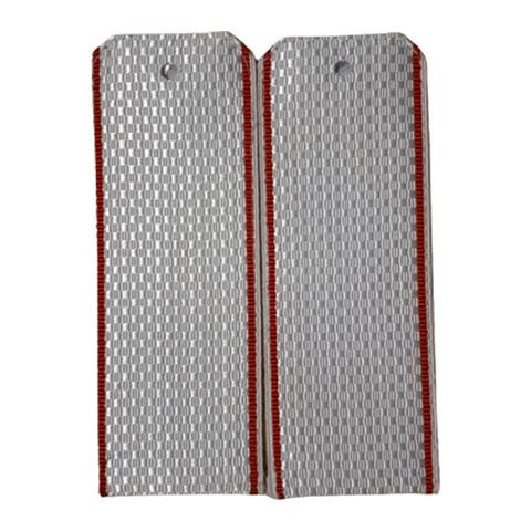 Погоны белые с красным кантом (пог.лента,на пластике)