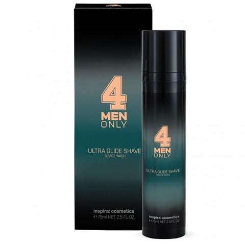 INSPIRA 4 Men Only: Ультрамягкий гель-крем для умывания и бритья (Ultra Glide Shave & Face Wash)