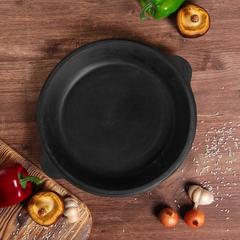Узбекский чугунный казан 10л круглое дно с чугунной крышкой сковородой