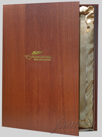 Подарочный картонный футляр для фамильного диплома А4