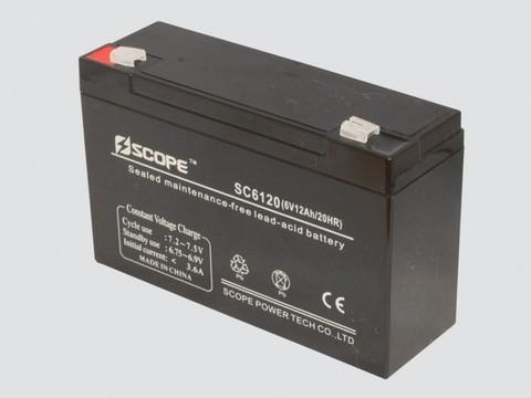 Аккумулятор свинцово-кислотный 6V,12Ah SC-6120 151*50*94мм