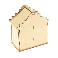 Чайный домик Двойной, заготовка разборная 10*16*18,5 см, деревянный.