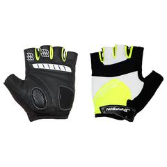 Велоперчатки JAFFSON SCG 46-0123 (чёрный/белый/зелёный)