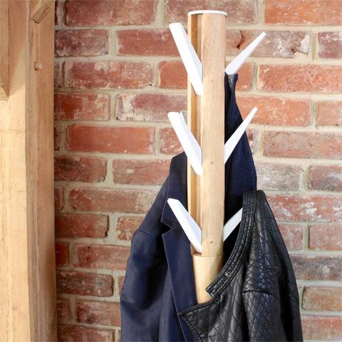 Вешалка напольная UMBRA Flapper, белая-дерево