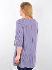 Галактика. Блуза вільного крою plus size. Пудра + синій.