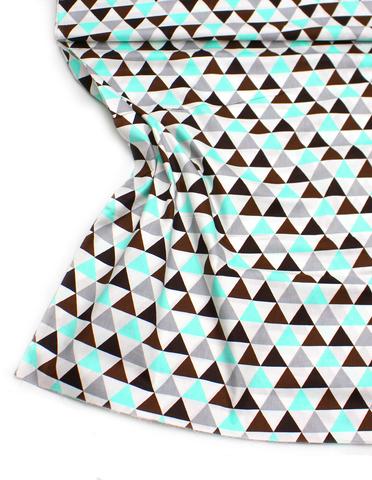 Треугольники мятно-коричневые