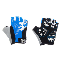 Велоперчатки JAFFSON SCG 47-0122 (чёрный/белый/синий)