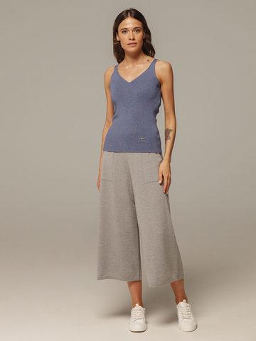 Женские серые брюки из 100% шерсти - фото 2