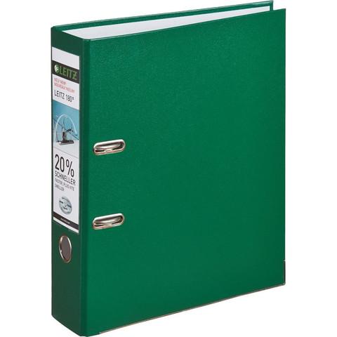Папка-регистратор Leitz 180° 80 мм зеленая