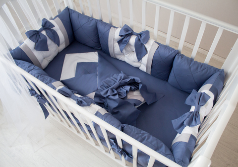 Комплект в кроватку Океан, на 4 стороны кроватки
