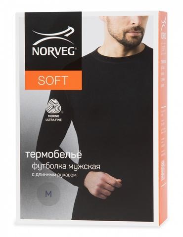 Картинка кофта Norveg Soft Sleeve M woolmark черный - 5